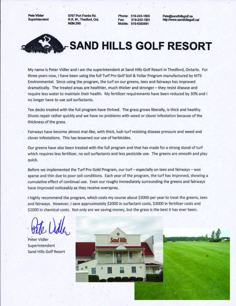 Golf Book - Pete's Testimonial Page